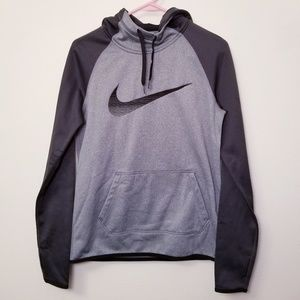Nike Small Therma Fit Gray/Black Hoodie Sweatshirt